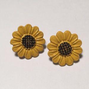Vintage Sunflower Stud Earrings